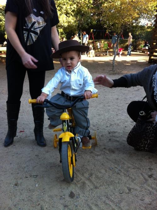 Na falta de cavalo, vamos de bike!