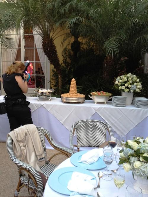 Mesa do Buffet, com as sobremesas
