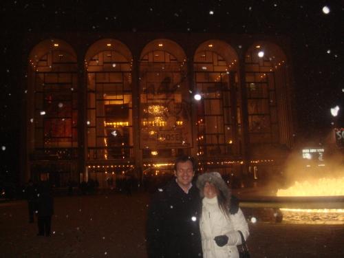 Saindo da ópera, nevava lá fora! #sonho