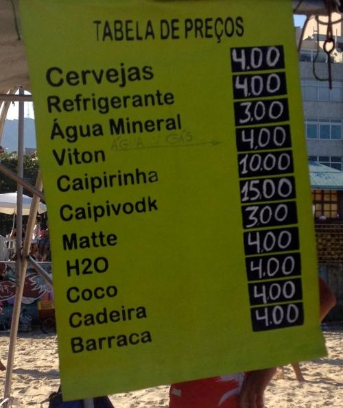 Os preços