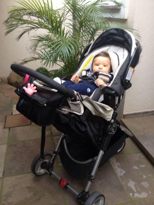 Frederico com seu City Mini, bem adaptado para os primeiros 8 meses!